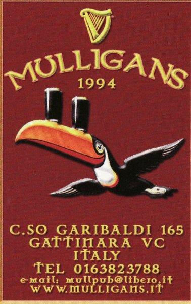 Pub Mulligans-Birra Irlandese e non solo + Carne Argentina Gattinara-Vercelli-Piemonte