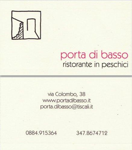"""Ristorante Raffinato """"Porta-di-basso"""" Peschici-Foggia-Puglia"""