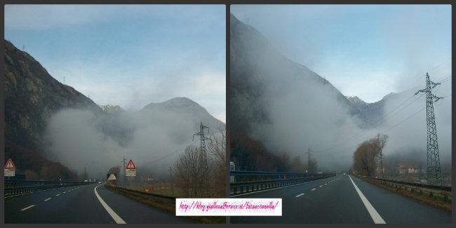 nebbia sulla A5 sci di fondo a Brusson fata antonella