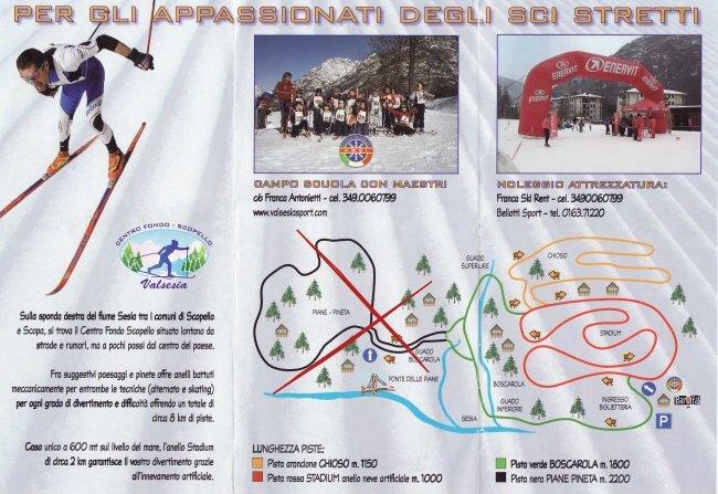 Cartina piste sci di fondo a Scopello
