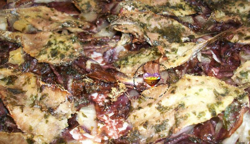 alici con radicchio rosso ricetta fata antonella