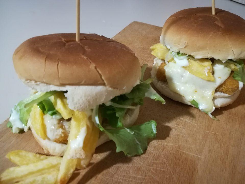 fish burger fatto in casa