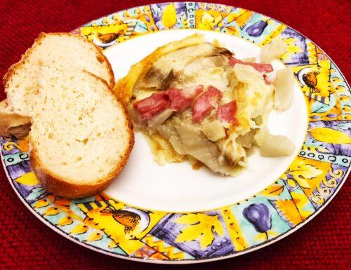 Torta salata mortadella e finocchio