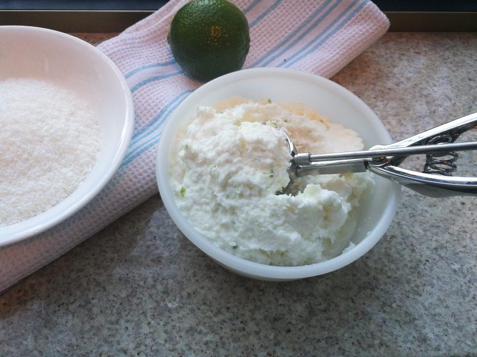 Gelato al cocco e lime