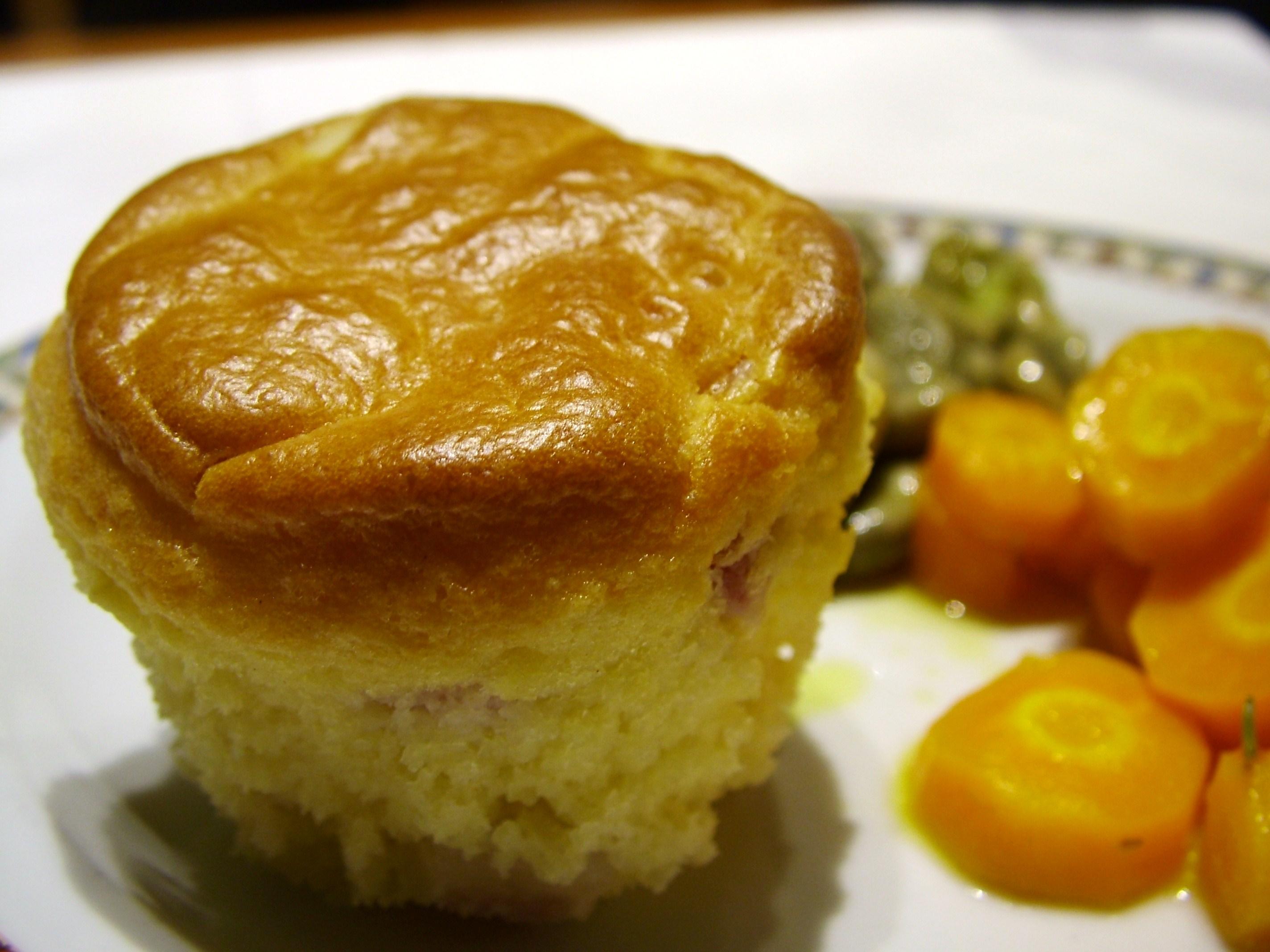 Muffin salati con ricotta e pancetta