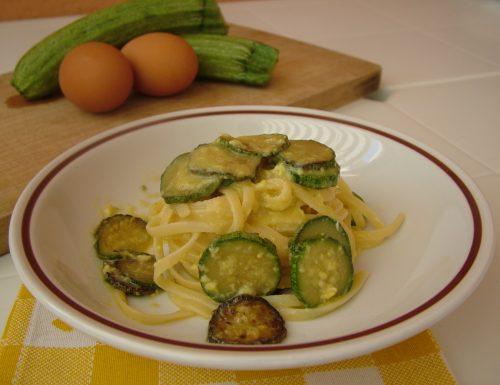"""""""Carbonara"""" di zucchine"""
