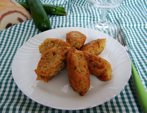 Crocchette di zucchine e pancetta