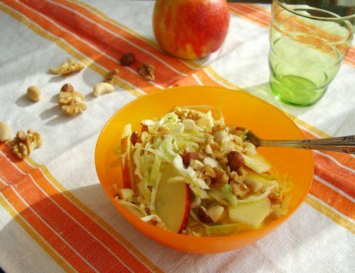 Insalata invernale di cavolo, mela e frutta secca *
