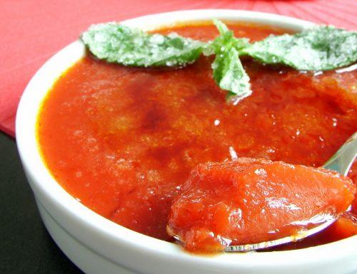 """""""Crème brûlée"""" di pomodoro"""