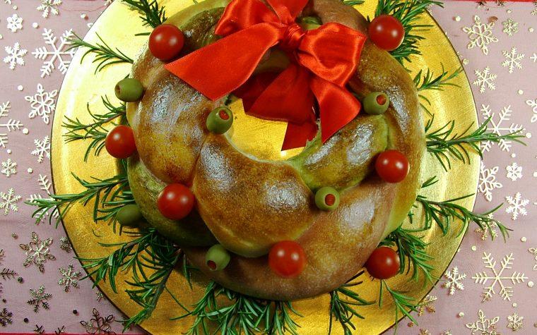 Ghirlanda di pane (centrotavola per le feste)