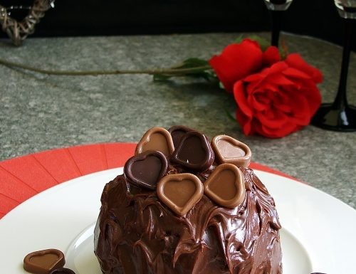 Bomba piccante al cioccolato (dolce per San Valentino)