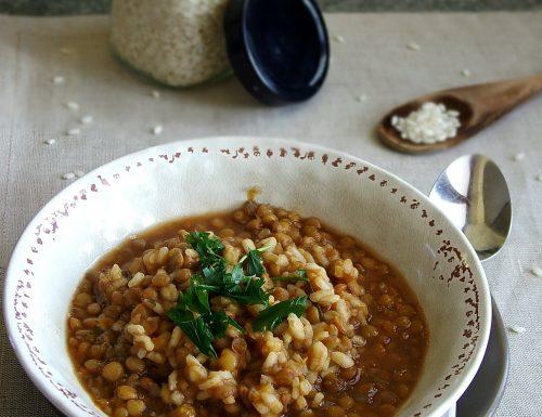 Zuppa di riso e lenticchie *