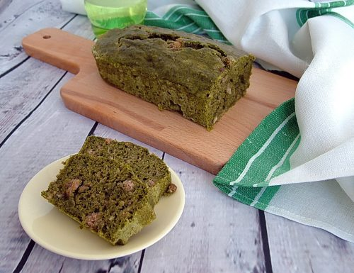 Plumcake salato con bietole e prosciutto (senza uova nè burro)