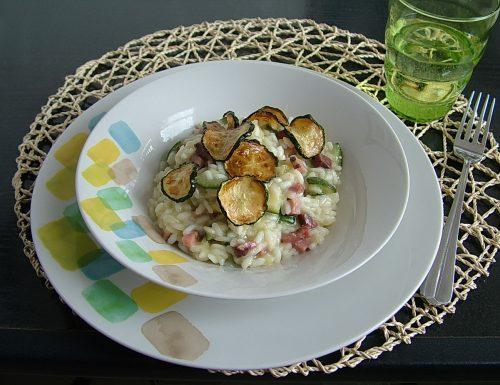 Risotto con speck e zucchine