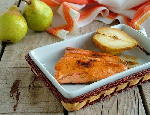 Filetto di salmone con le pere