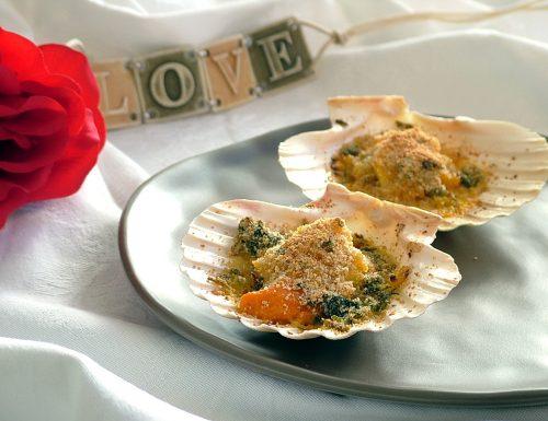 Capesante gratinate allo zafferano – antipasto raffinato per San Valentino