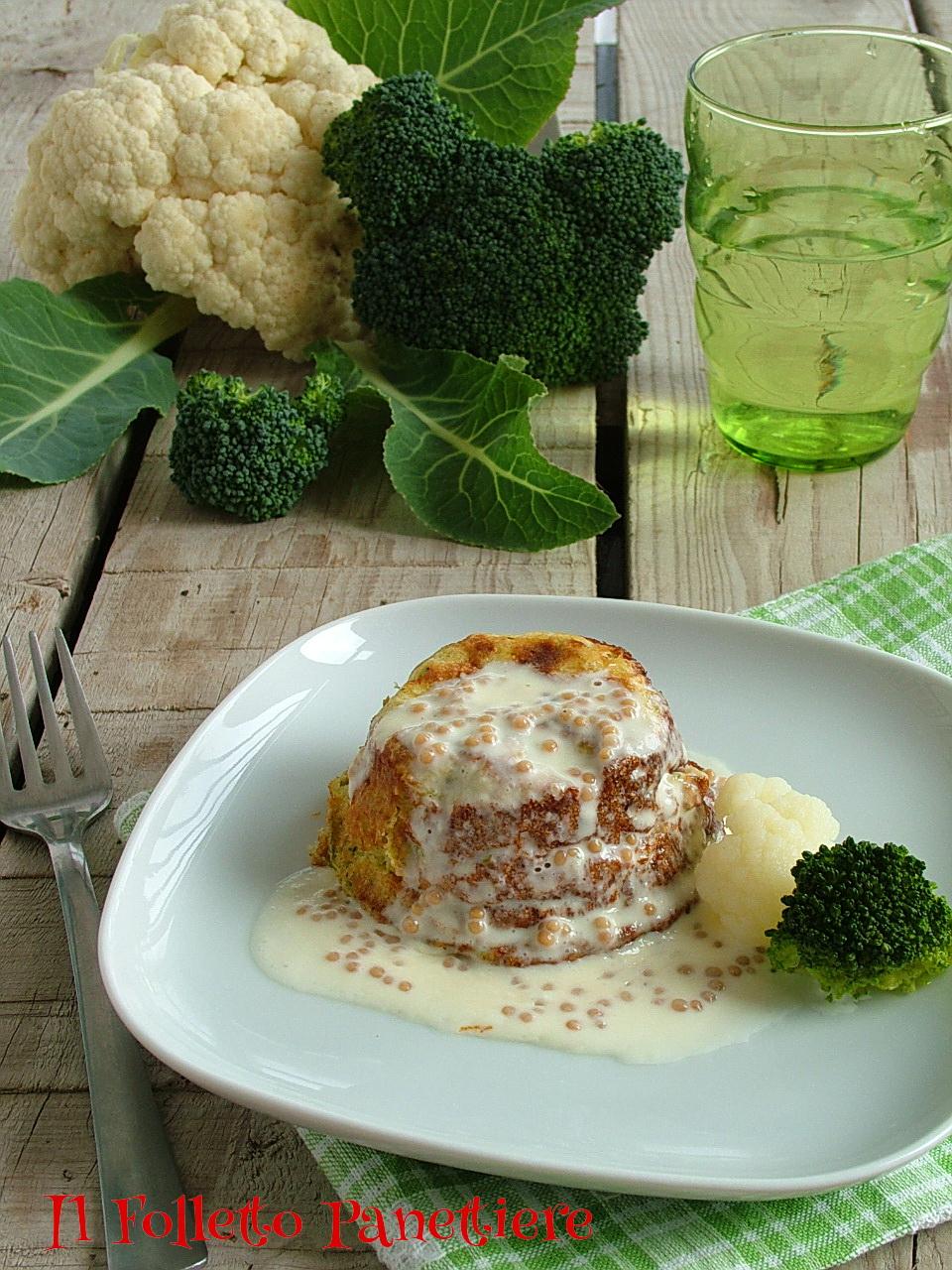 flan di broccoli e cavolfiori