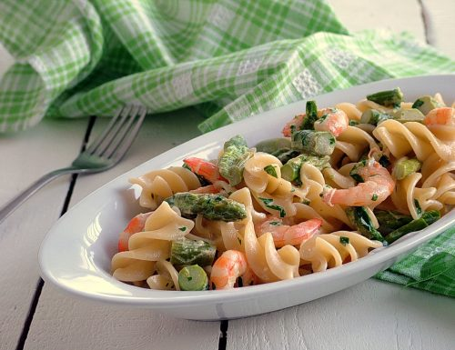 Fusilli asparagi e gamberetti