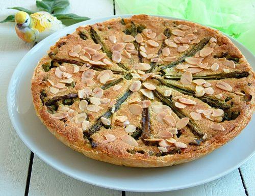 Torta salata con asparagi e mandorle