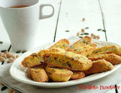 Biscotti con farina di ceci e semi di zucca