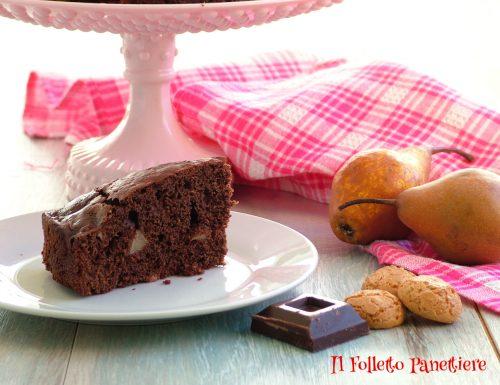 Torta pere e cioccolato con amaretti