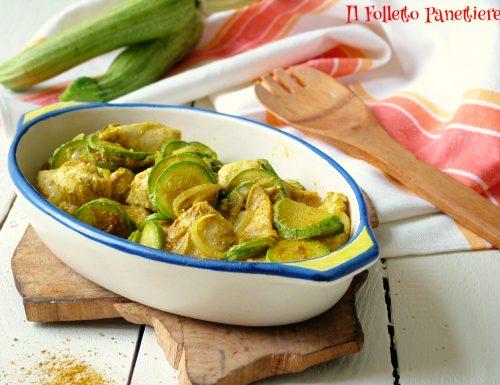 Pollo al curry con zucchine