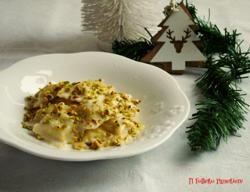 Ravioli di magro con salsa al mascarpone e gorgonzola