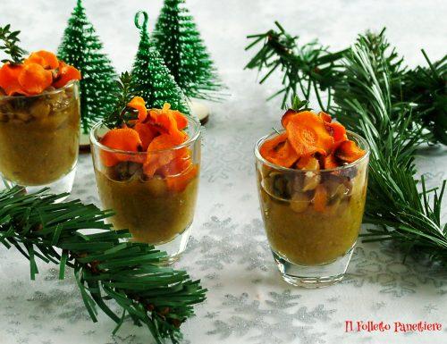 Mousse di lenticchie con chips di carote al miele – idea per capodanno