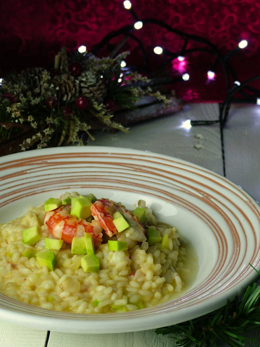 risotto gamberi e avocado