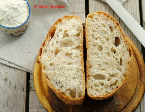 Pane tipo 0 con prefermento di lievito madre