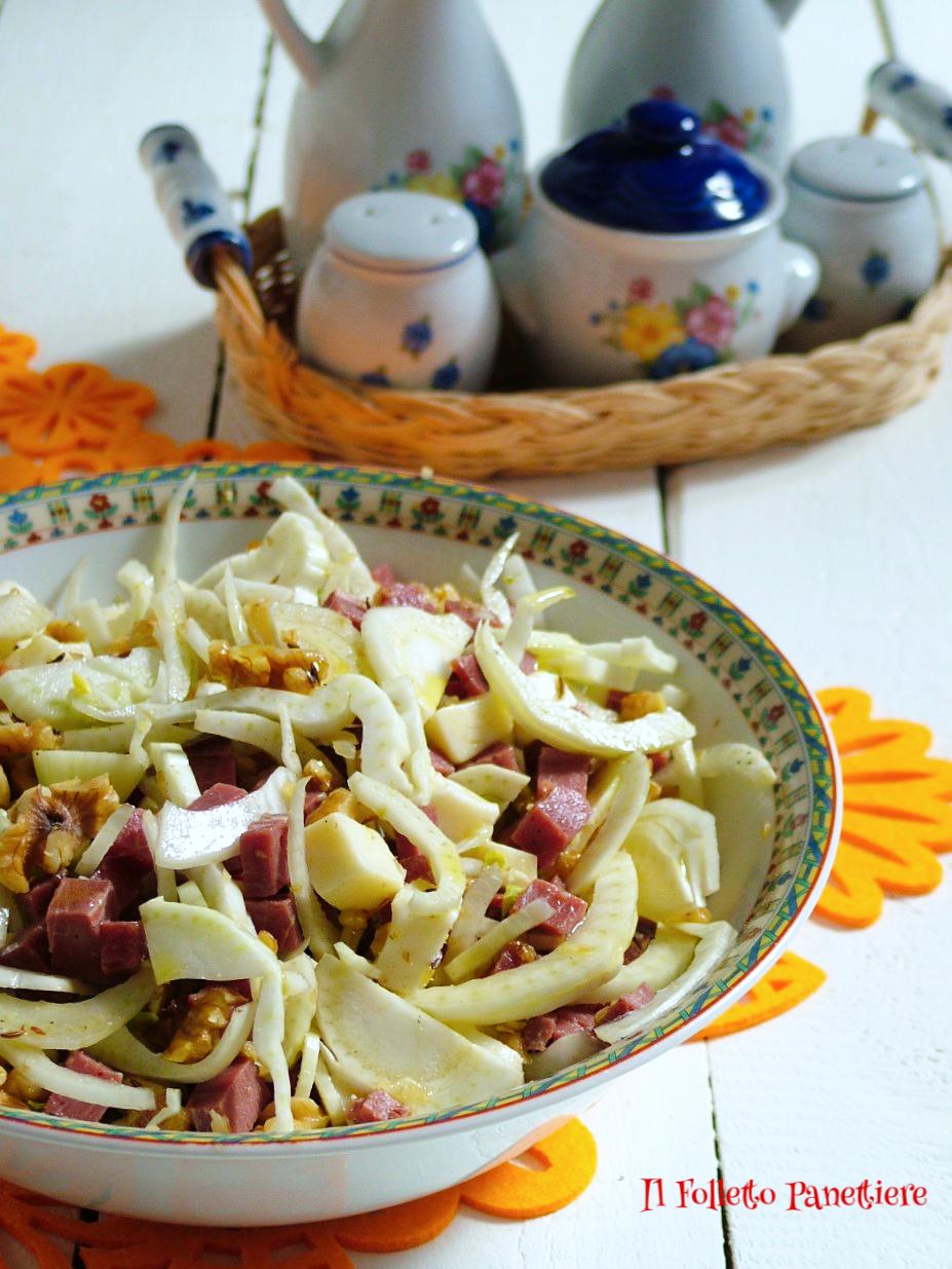 insalata finocchi manzo e toma