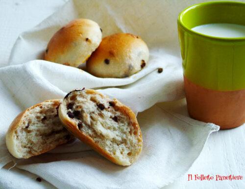 Panini al latte con gocce di cioccolato – ricetta con lievito madre