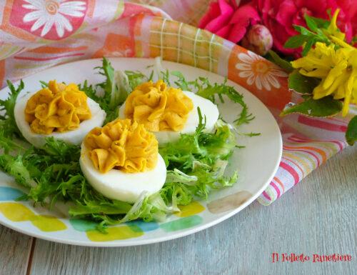 Uova sode ripiene – antipasto classico per Pasqua