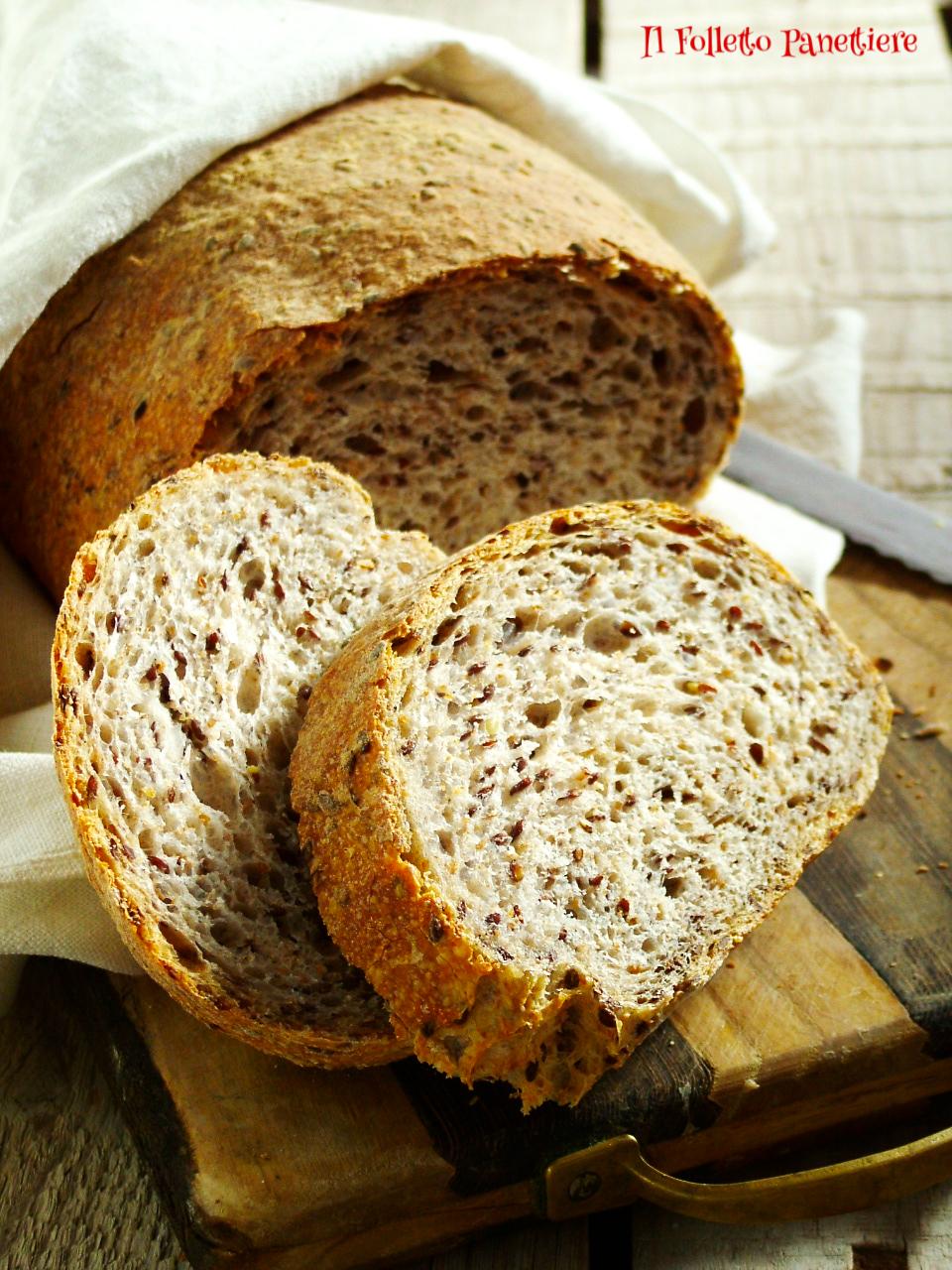 pane semintegrale ai semi di lino