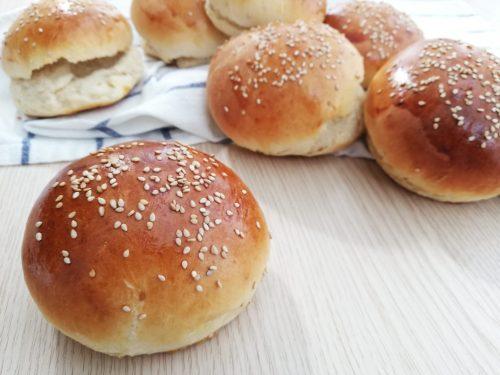 BURGER BUNS panini per hamburger fatti in casa