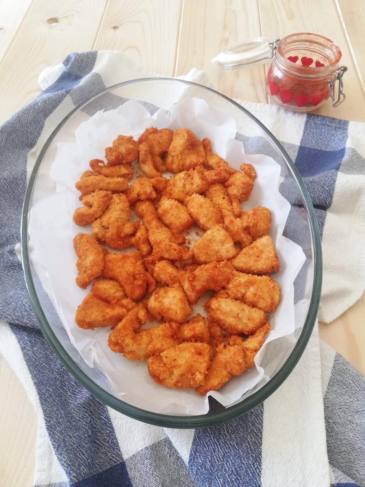 bocconcini di pollo alla paprika al forno ver
