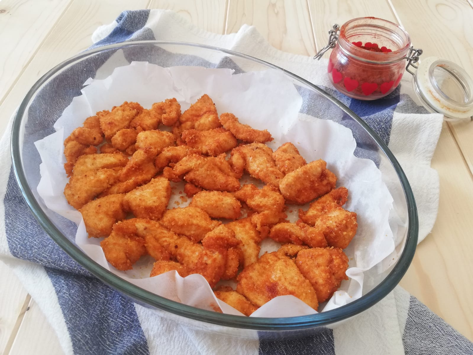 bocconcini di pollo alla paprika al forno orizz