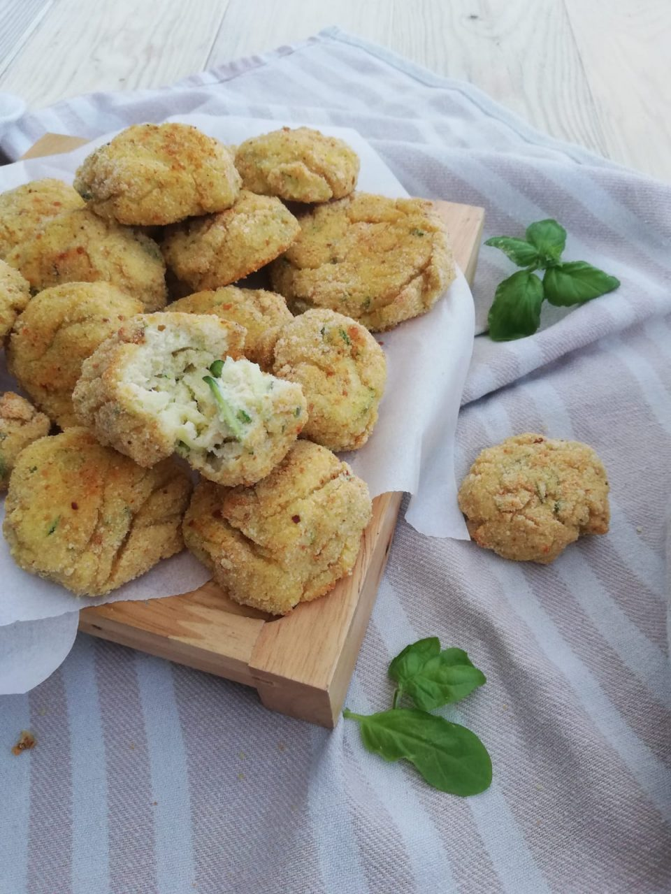 polpette di ricotta e zucchine al forno vert