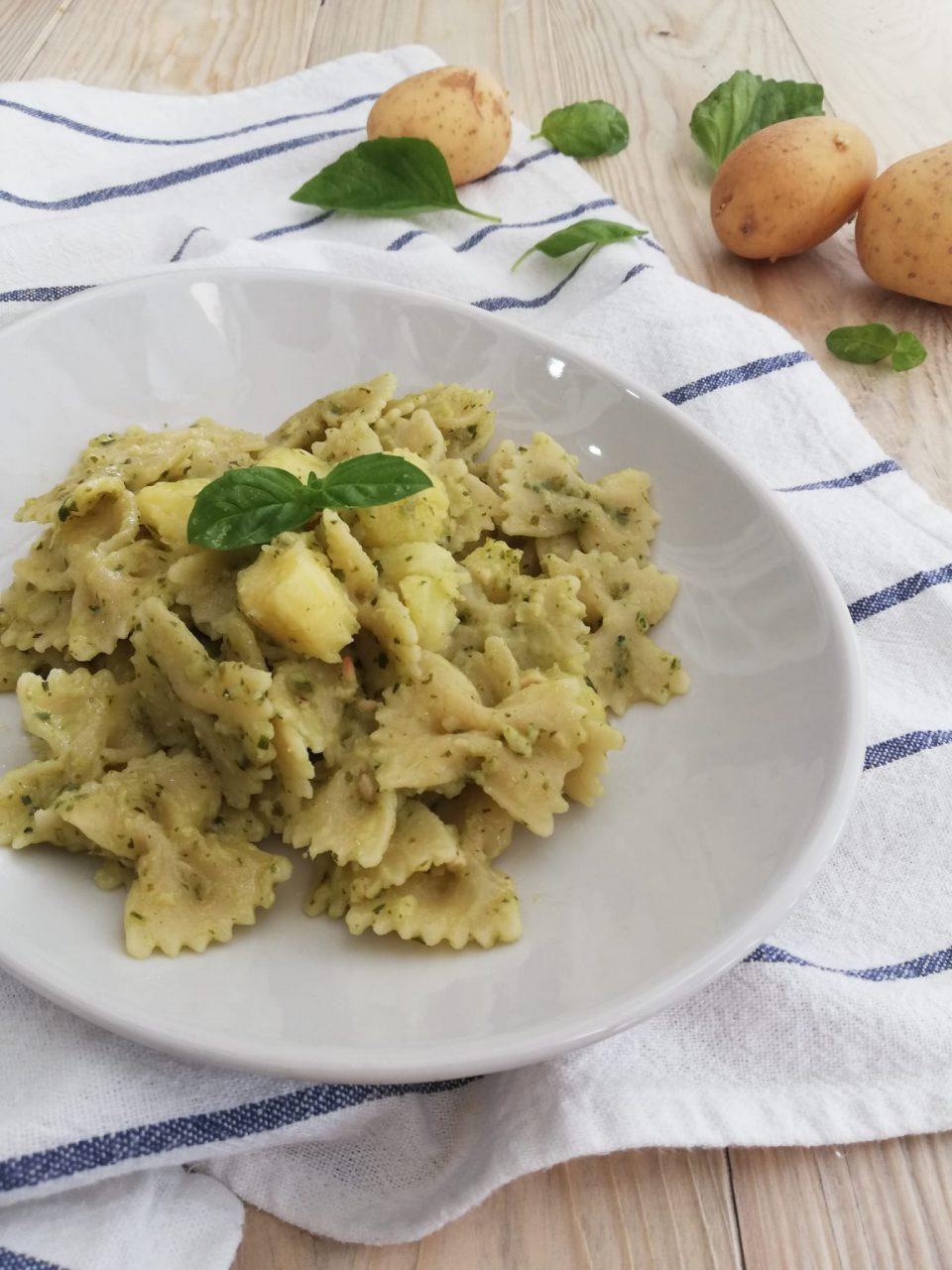pasta, patate e pesto vert1