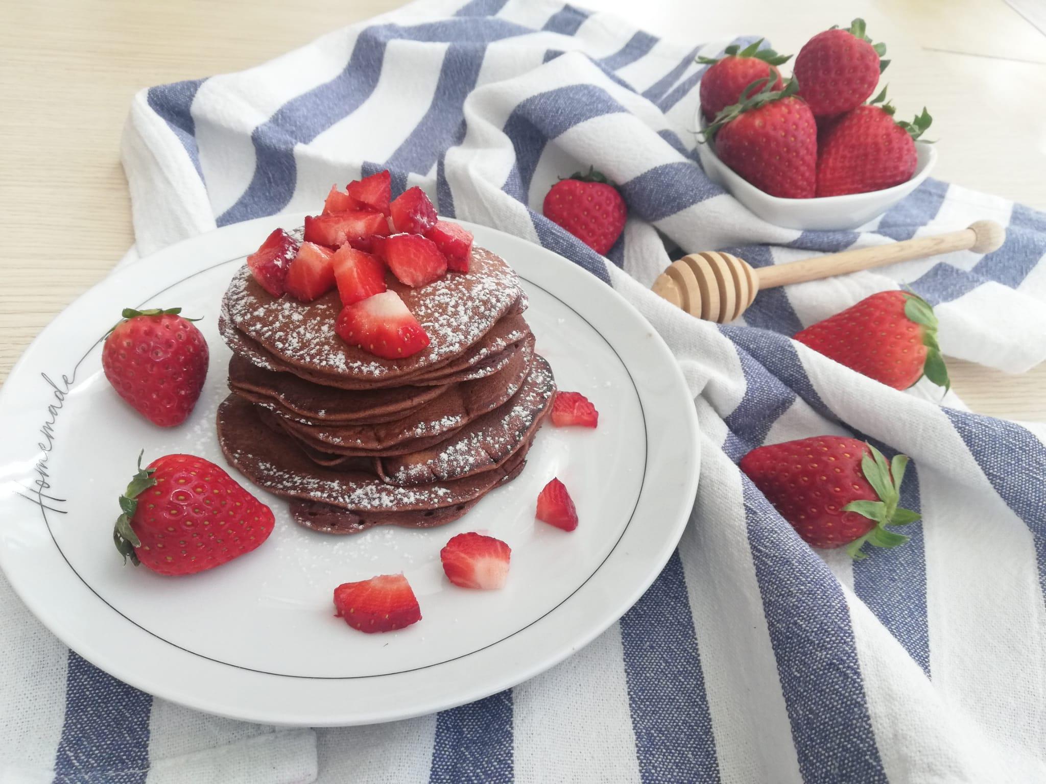 pancake al cacao senza bilancia orizz