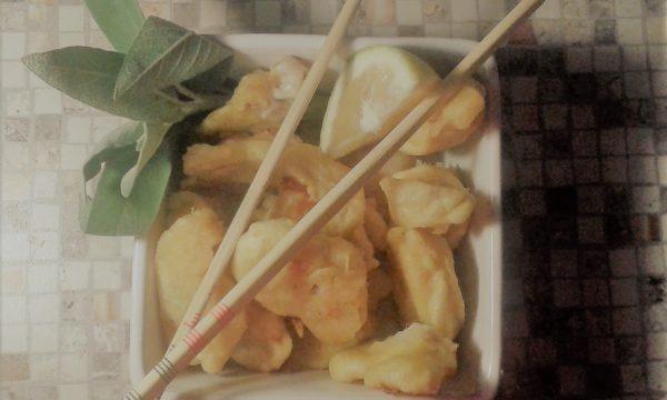 Filetti di merluzzo in crosta allo zenzero e curcuma