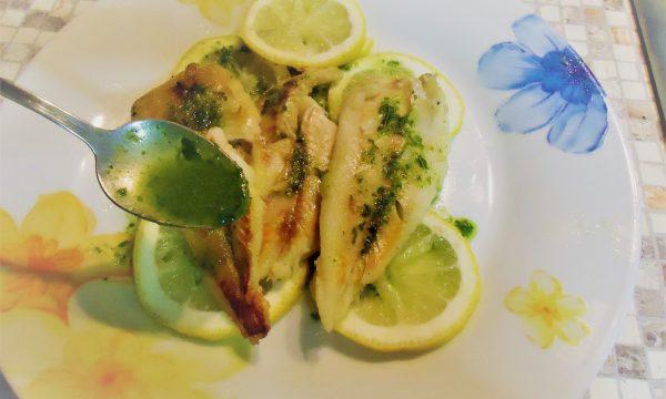 Merluzzo marinato in salsa verde