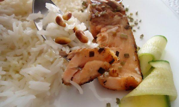 Riso basmati e salmone speziato (il mio piatto light)