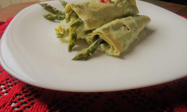 Cannelloni agli asparagi e prosciutto