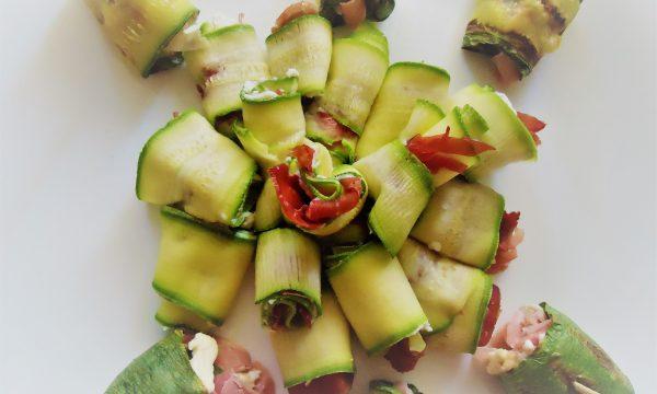 Rotolini zucchine Philadelphia e bresaola