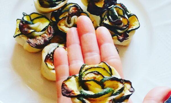 Rose di zucchine in sfoglia | finger food