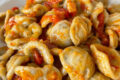 Orecchiette al grano arso con pancetta e datterini
