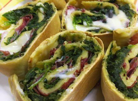 Strudel salato con bresaola e spinaci