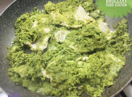 Arista di maiale in crema di broccoli