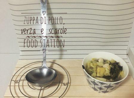Zuppa di pollo, verza e scarole